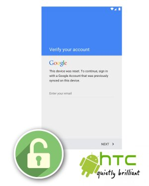HTC FRP Unlock or Google Account Lock Removal